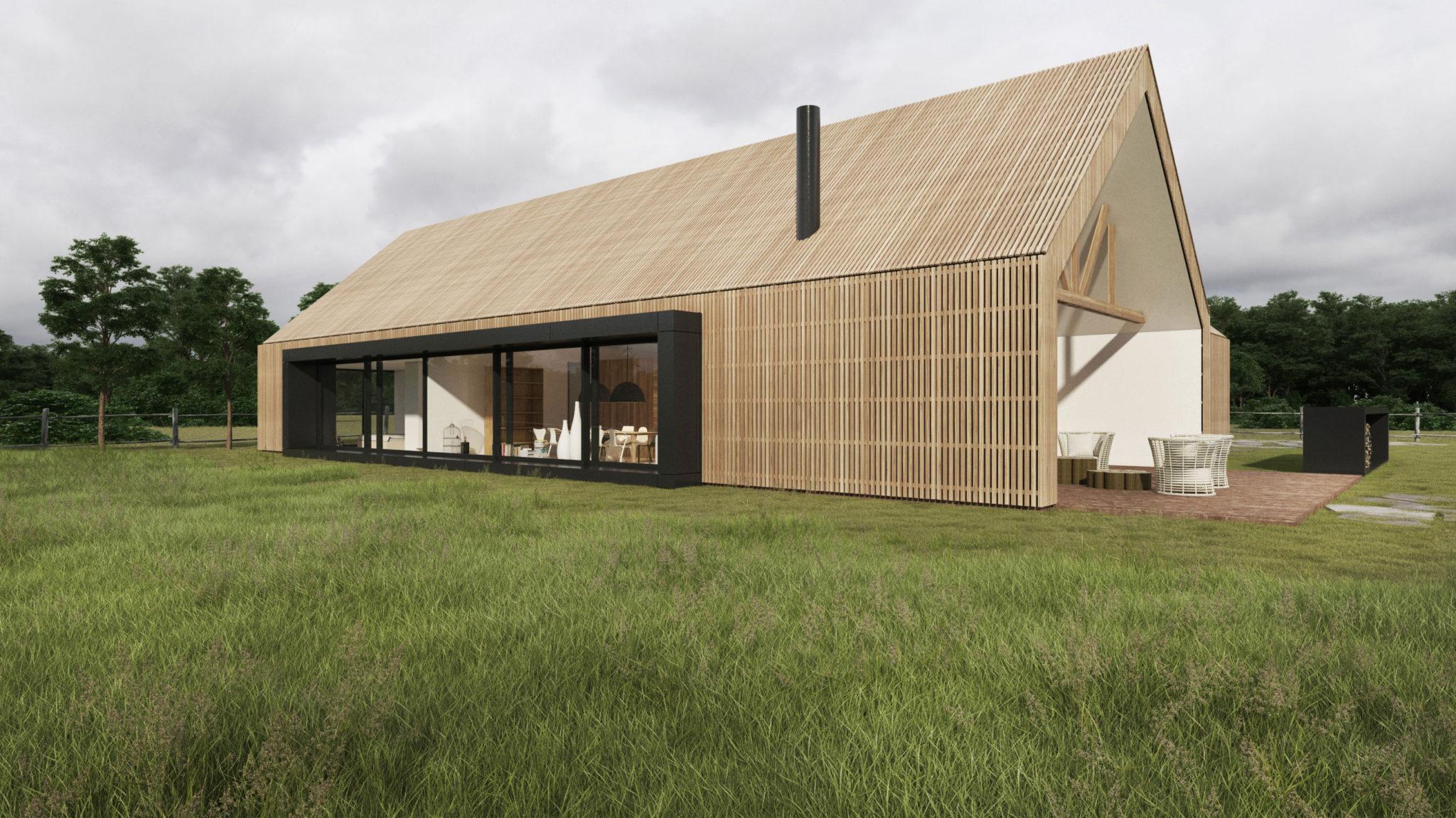House modern barn pozna architekt wn trz pozna for Barn homes australia