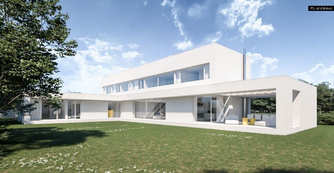 nowoczesny dom piętrowy z płaskim dachem