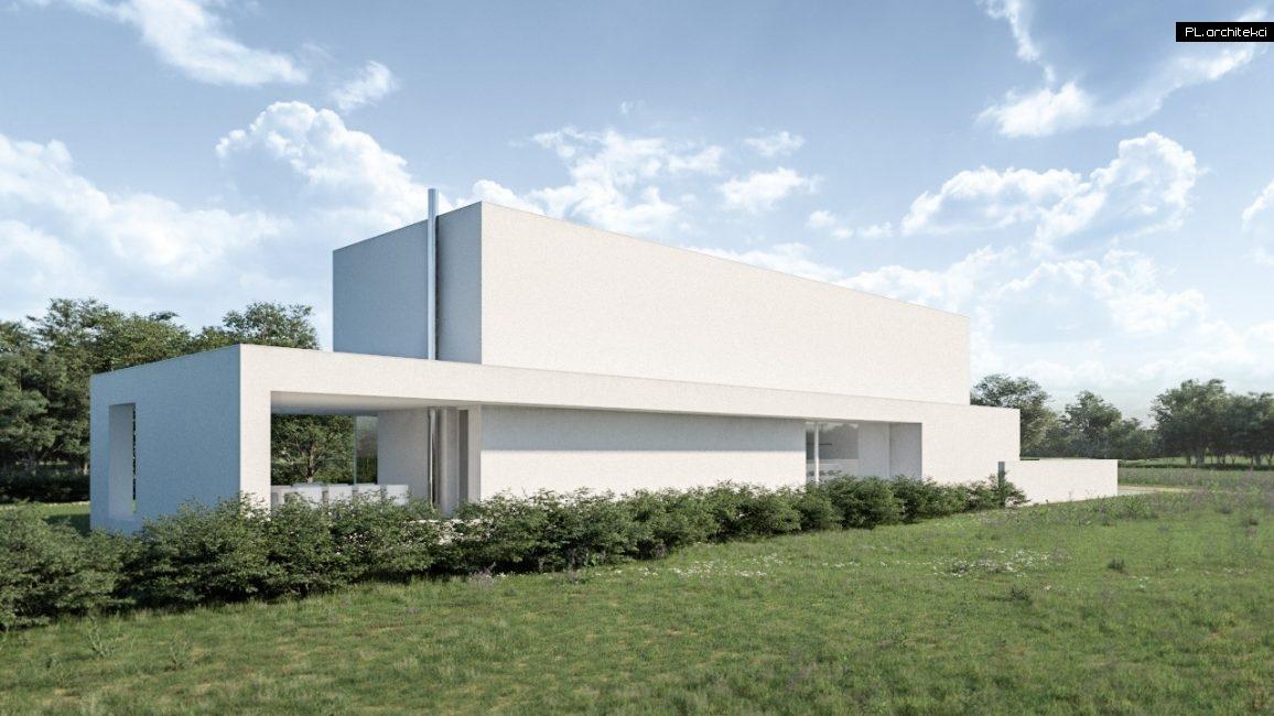 nowoczesna architektura domu jednorodzinnego
