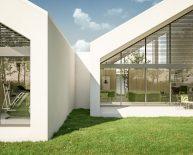 Nowoczesny dom jednorodzinny ze skośnym dachem | Szreniawa