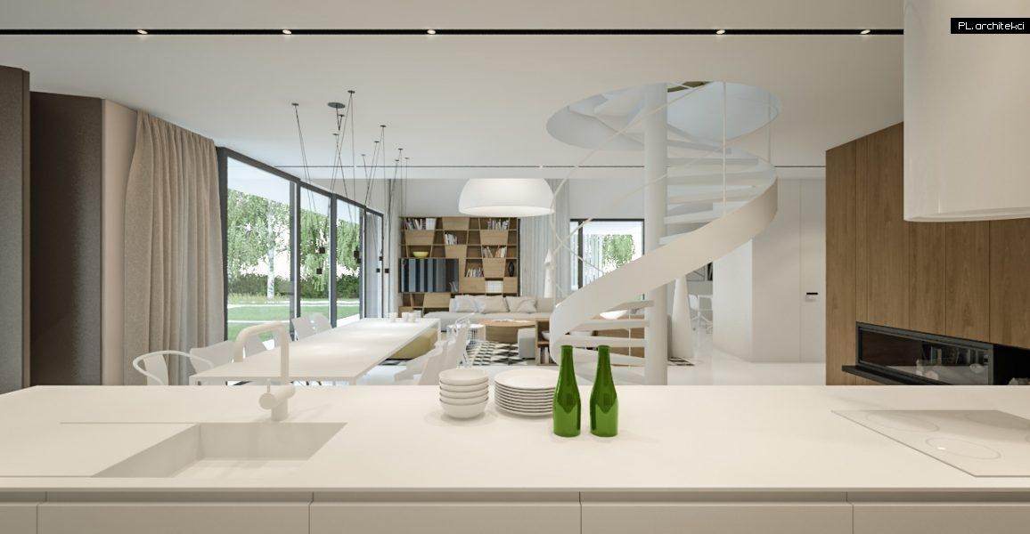 Nowoczesne wnętrze domu jednorodzinnego | Lusówko