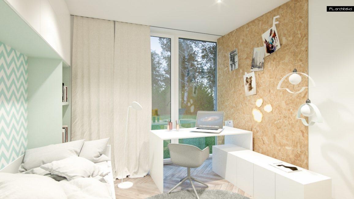 Nowoczesne wnętrze domu jednorodzinnego: pokój dziecięcy | Poznań