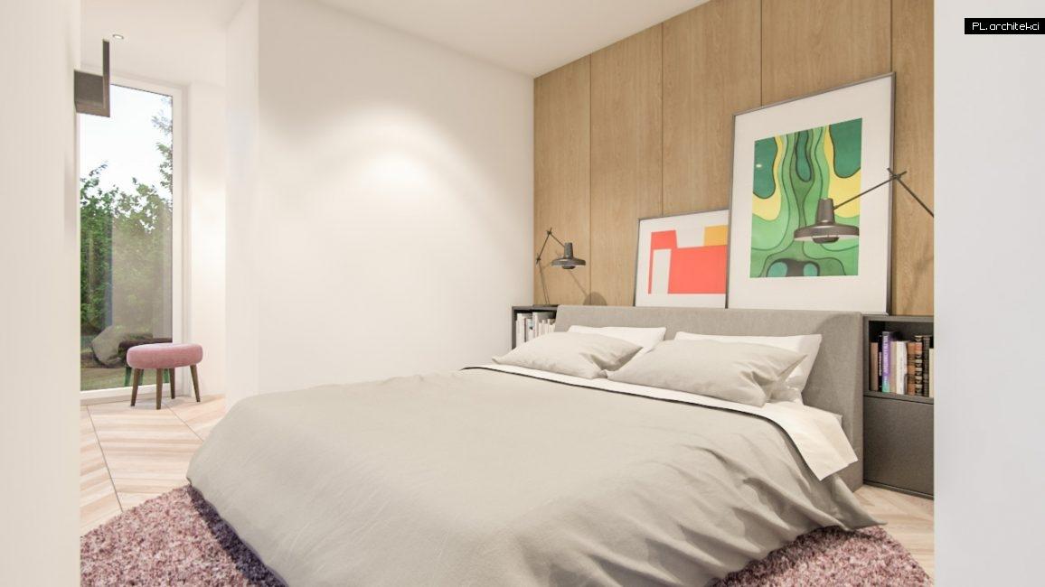 Nowoczesne wnętrze domu jednorodzinnego: sypialnia | Poznań