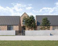 Nowoczesna stodoła - dom jednorodzinny z cegły | Palędzie