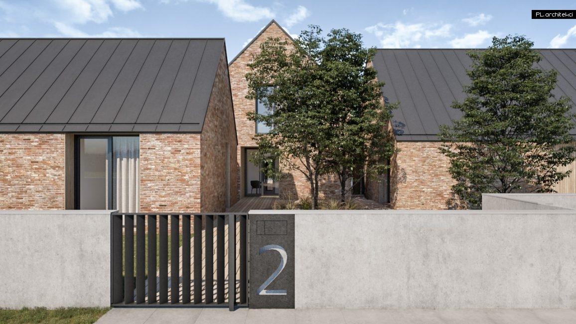 Nowoczesny dom jednorodzinny z cegły w stylu nowoczesnej stodoły zaprojektowany przez architekt poznań