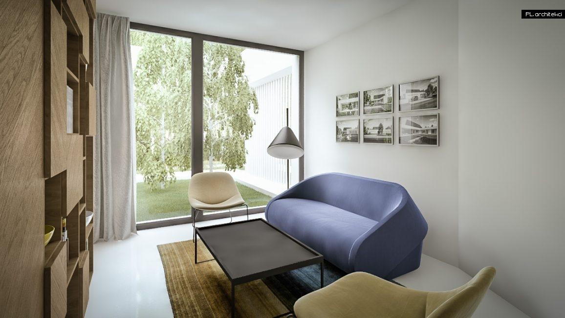 Nowoczesne wnętrze domu jednorodzinnego: gabinet | Lusówko