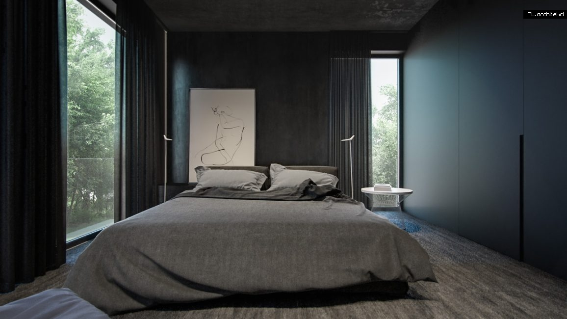 Nowoczesne wnętrze apartamentu: sypialnia | Poznań