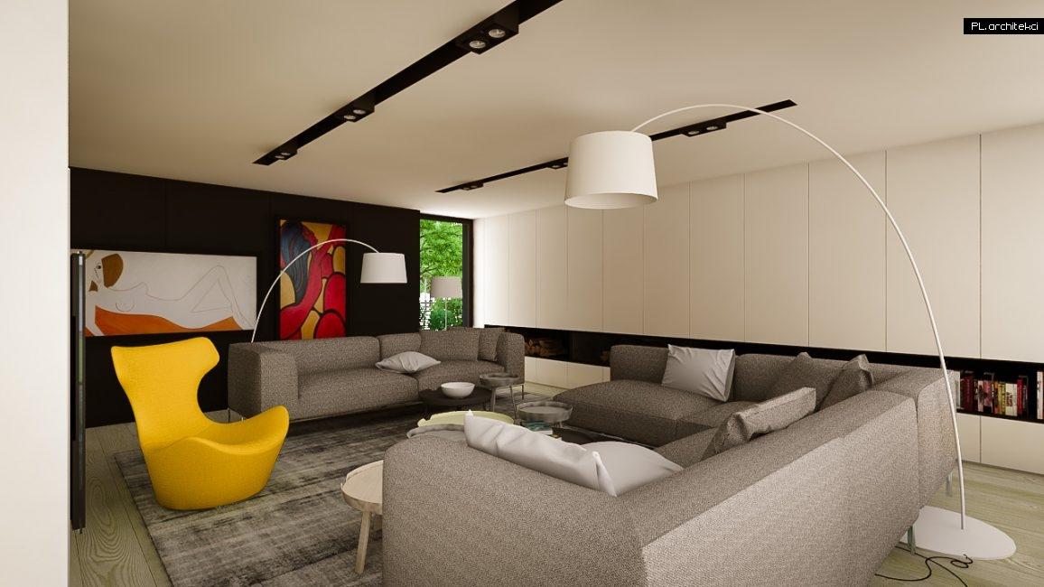 Nowoczesne wnętrze domu jednorodzinnego: salon | Puszczykowo