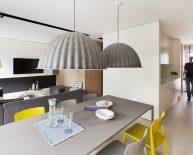 Nowoczesne wnętrze apartamentu: salonu z jadalnią | Poznań